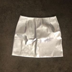 Silver H&M Mini Skirt - great for NYE, Halloween